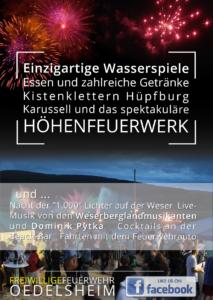 Flyer - Rückseite Weserbeleuchtugn 2017 in Oedelsheim
