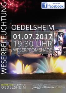 Flyer - Frontseite Weserbeleuchtugn 2017 in Oedelsheim