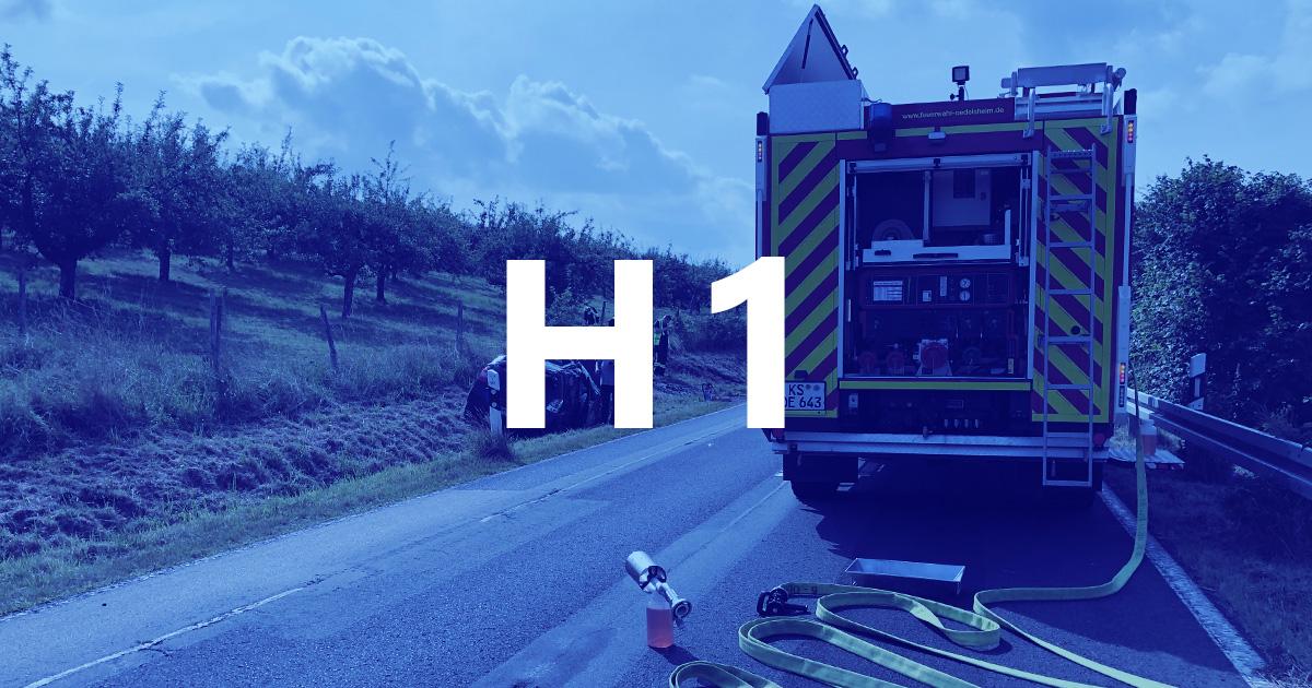Alarmbild für H1 nach VU